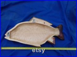45 cm mur 3D sculpture en bois poisson Miroir carpe, Cyprinus carpio, Carpe commune, bois de sculpture à la main, décor mural
