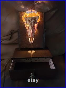 Art du crâne illuminé