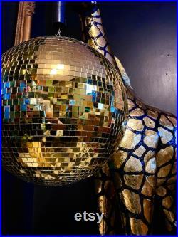 Boule de scintillement de disco de girafe avec la lumière laser