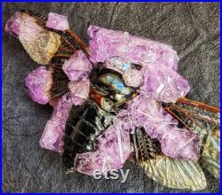 Cigale cristallisée, Cristal Réel, Cigale montée, Taxidermie, Cristaux, Insectes montés, Bizarreries, Curiosités, Bug, Insecte, Cigale, Or