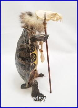 Corps complet Tortue Taxidermy Gaff Snake Reptile Lizard vison crâne os