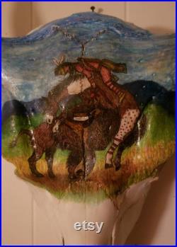 Crâne d art de Bison Bull avec l expédition libre.