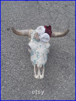 Crâne de vache réel grand crâne de bétail crâne décoratif de vache