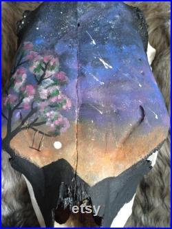 Crâne peint à la main de vache