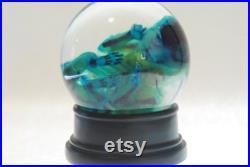 GLOBE Poulpe bleu, cthulhu, kraken. Spécimen humide, curiosité, bizarrerie, décor steampunk