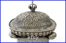 Grand kapala tibétain ancien Accessoire de rituel tantrique Circa XIXe Tibet