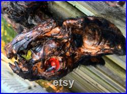 Grande chauve-souris vampire en décomposition Décor d Halloween Accessoire d Halloween Chauve-souris morte Papier Maché Bat Horreur Décor gothique Halloween Cadavre