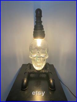 Lampes de crâne en cristal