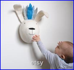 Lapin Faux Taxidermie, Bunny Nursery Decor, Peter lapin pépinière