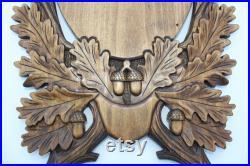 Mont de cerf sculpté, plaque d'antre, plaque de montage, plaque de taxidermie, élan, plaque de crâne, planche sculptée, plaque d'élan, plaque de cerf