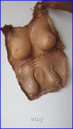 Réplique gilet de poitrine écorché, pièce de taxidermie humaine (halloween accessoire d effet spécial bizarrerie curiosité)