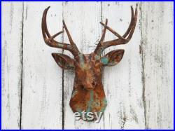 Rustic Deer Head, Living Room,Deer Head Wall Decor,Farmhouse Decor,Rustic Wall Decor,Deer Gifts,Antler Gifts