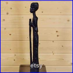 Statue tribale en bois sculpté africain SW3343