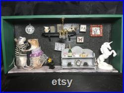 Taxidermie souris diorama ère victorienne