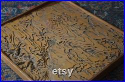 Weimar, Thüringen, Allemagne 1880s impressionnante carte 3D modèle éducatif antique fabriqué à la main modèle éducatif original allemand lignes de contour d élévation d école allemande bois
