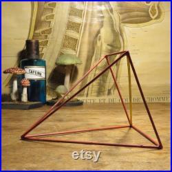 vintage PYRAMID GEOMETRIC SHAPE modèle éducatif Maths aide visuelle géométrie solide
